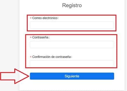 formulario de registro en KuCoin para comprar criptomonedas Utrust