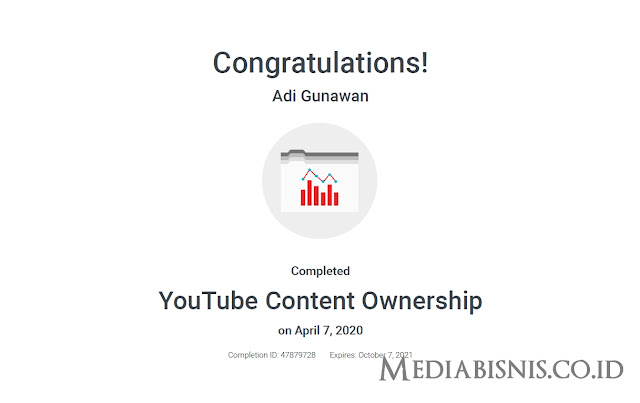 Jawaban Sertifikasi Youtube Content Ownership