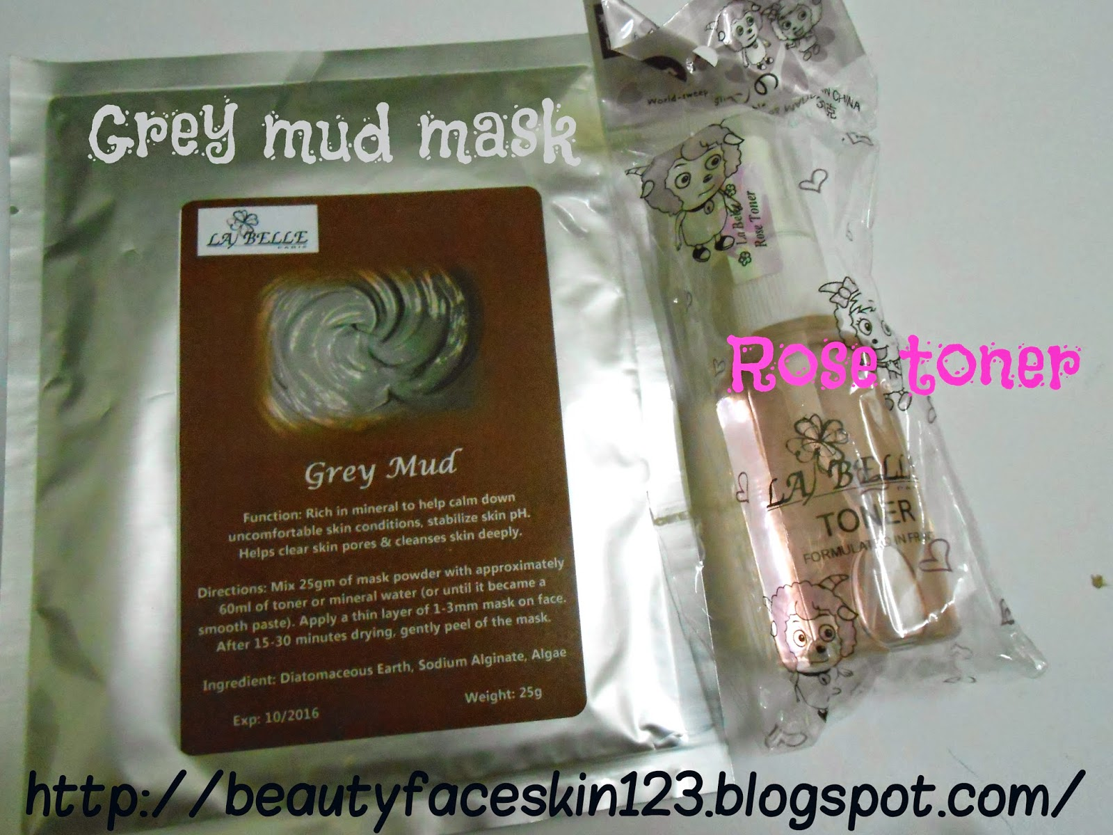 La Belle Grey mud powder mask