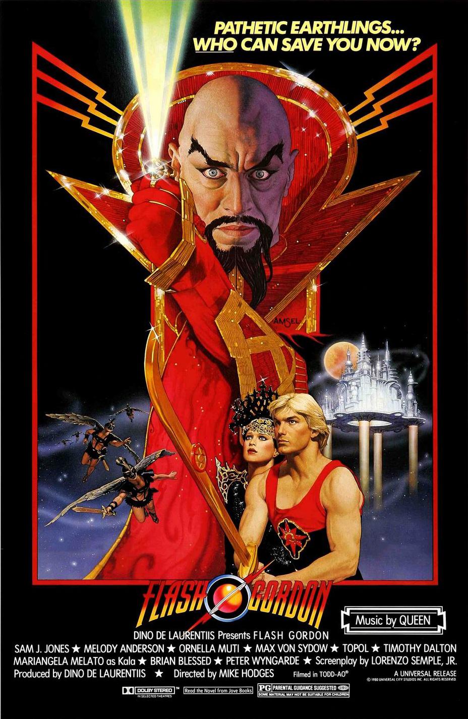 the geeky nerfherder movie poster art flash gordon 1980