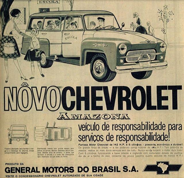 Propaganda do Chevrolet Amazona apresentado no final dos anos 50.