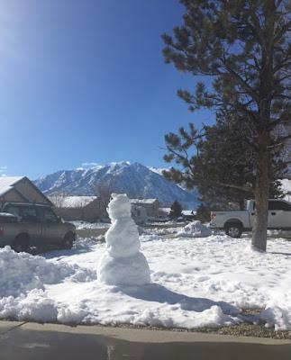 Snow bear sculpture.