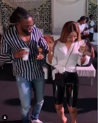 Uti Nwachukwu And Toke Makinwa Hang Out Together As They Do The Zanku Dance