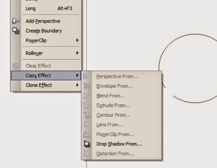 How to Copy Effect from an object in Corel Draw
