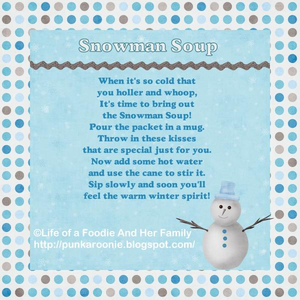 Life of a Foodie and Her Family Snowman Soup labels 2012