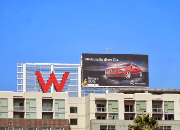 Mercedes Benz All new CLA billboard