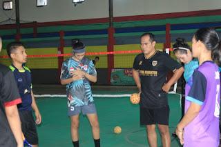 Pelatda Sepaktakraw Jateng di dilaksanakan di GOR Welahan