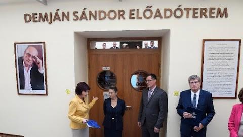 Előadótermet neveztek el Demján Sándorról a Budapesti Gazdasági Egyetemen