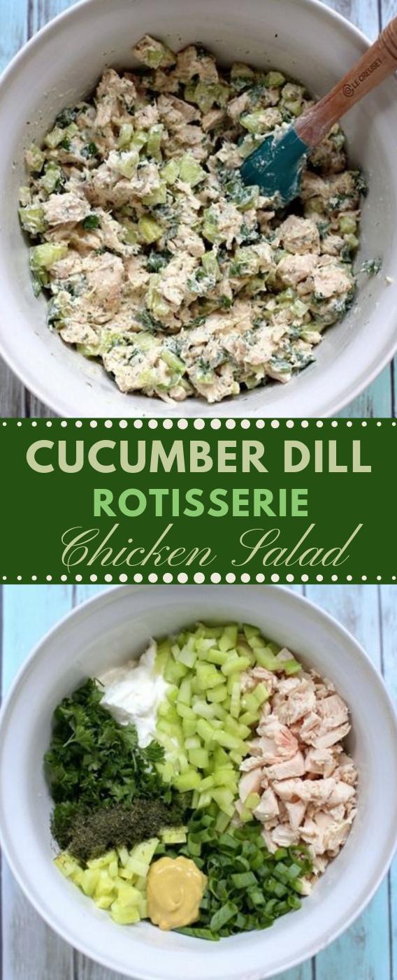 CUCUMBER DILL ROTISSERIE CHICKEN SALAD #salad #cucumber #diet #healthy #vegetarian
