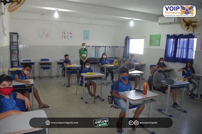 Secretaria de Educação de Amparo realizou a aplicação das provas do Integra Educação PB para alunos do 1º, 2º e 5º ano