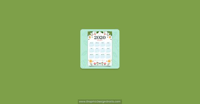 Calendario 2020 de flores gratis