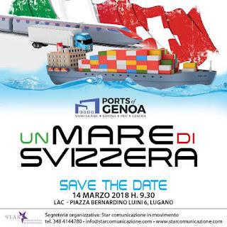 """A Lugano il 16 ottobre prossimo """"Un mare di Svizzera"""""""