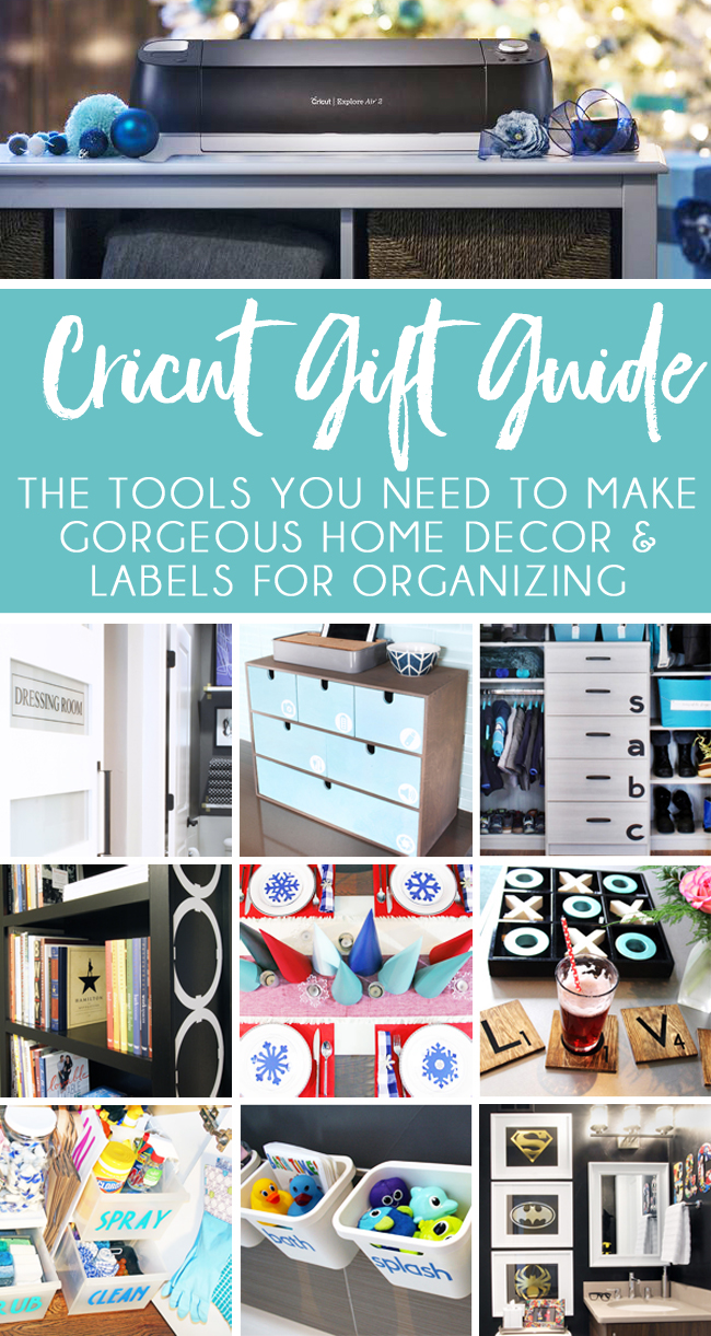 Cricut tools to create home decor and custom labels for organizing