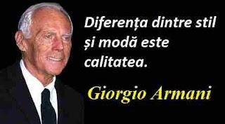 Maxima zilei: 11 iulie - Giorgio Armani
