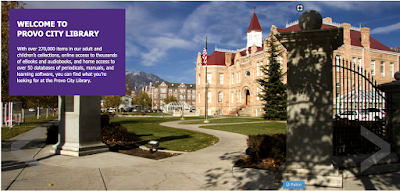 screen grab of Provo City Library webpage
