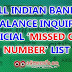 Missed Call Balance Checking Number Of Major Indian Banks.