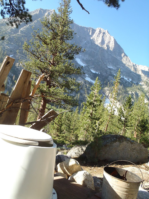 Rae Lakes Loop Bathroom, California, Kings Canyon National Park