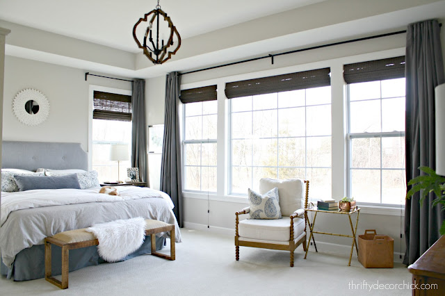 Master bedroom with tons of windows