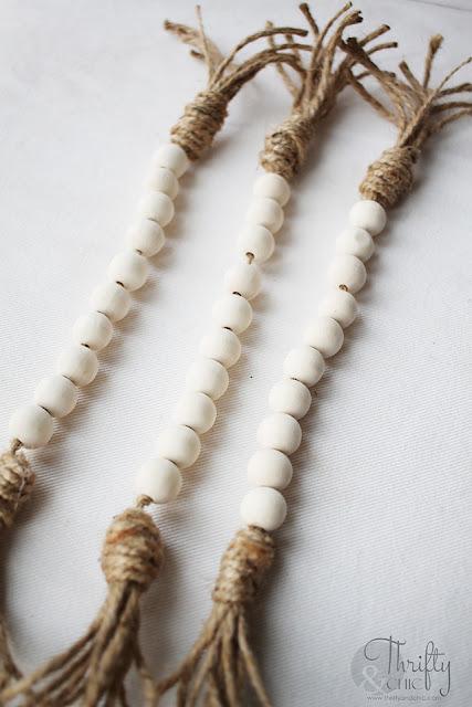 line of 3 wood bead garlands