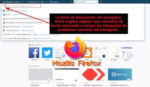 Ahora Firefox incorpora barra de direcciones inteligente para optimizar la búsqueda