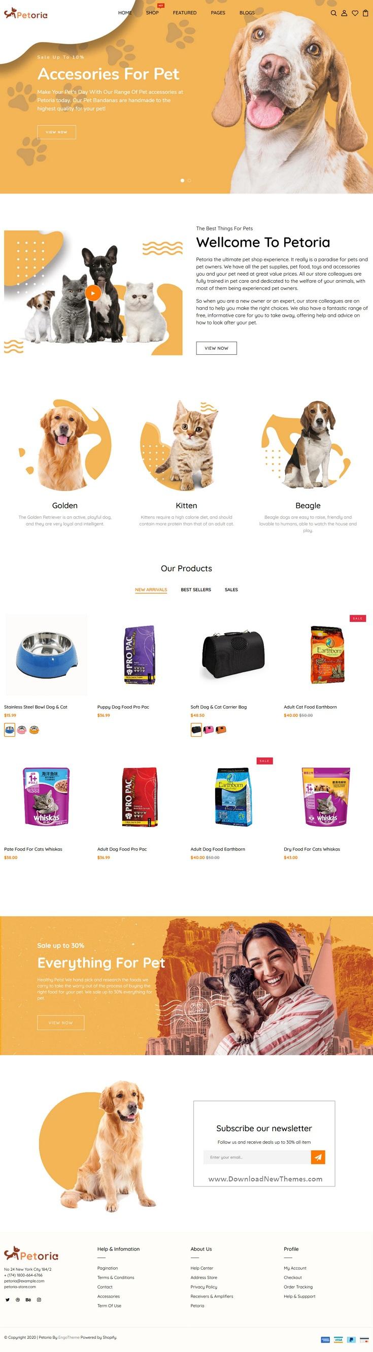 Pet Shop & Pet Care Responsive Shopify Theme