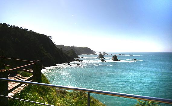 La Playa desde arriba, imagen típica de Asturias