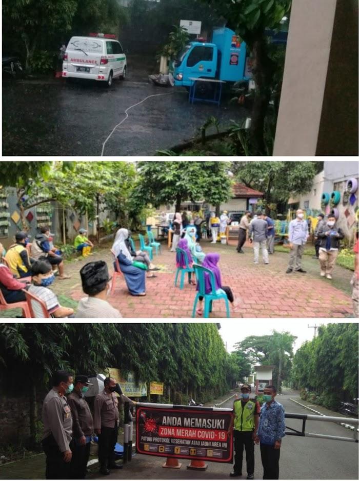 Relawan PCNU Turun Aksi-Sosial di Zona Hitam Covid-19 Kota Bogor