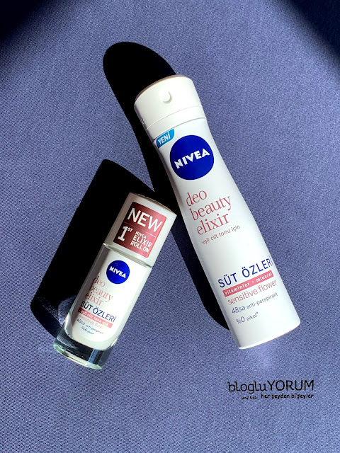 Nivea Deo Beauty Elixir süt özleri Sensitive Flower deodorant roll on