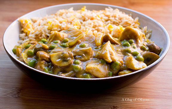 Chinese Chicken Curry with Rice