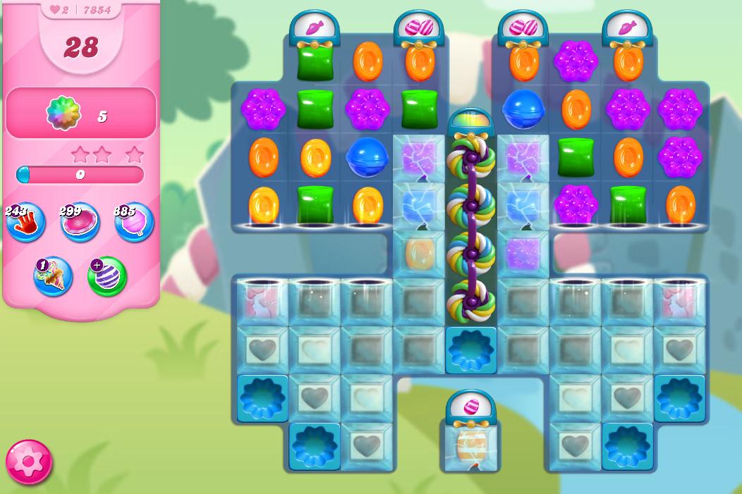 Candy Crush Saga level 7854