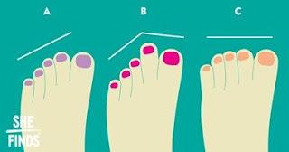 اعرف شخصيتك من شكل اصابع اقدامك !