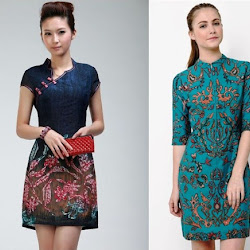 Model Batik Dress Pendek Terbaru Model Batik 2019