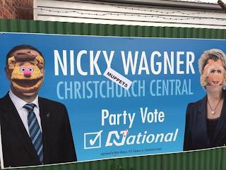 Nicky Wagner (Muppets) Christchurch Central: Party Vote National