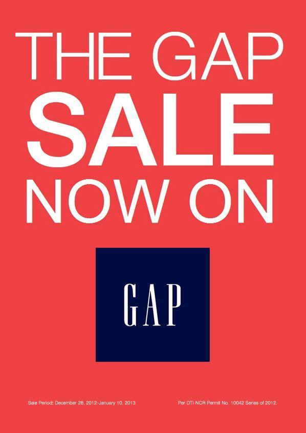 25e1c923a0c9 Manila Shopper  The Gap SALE  Dec 2012 - Jan 2013