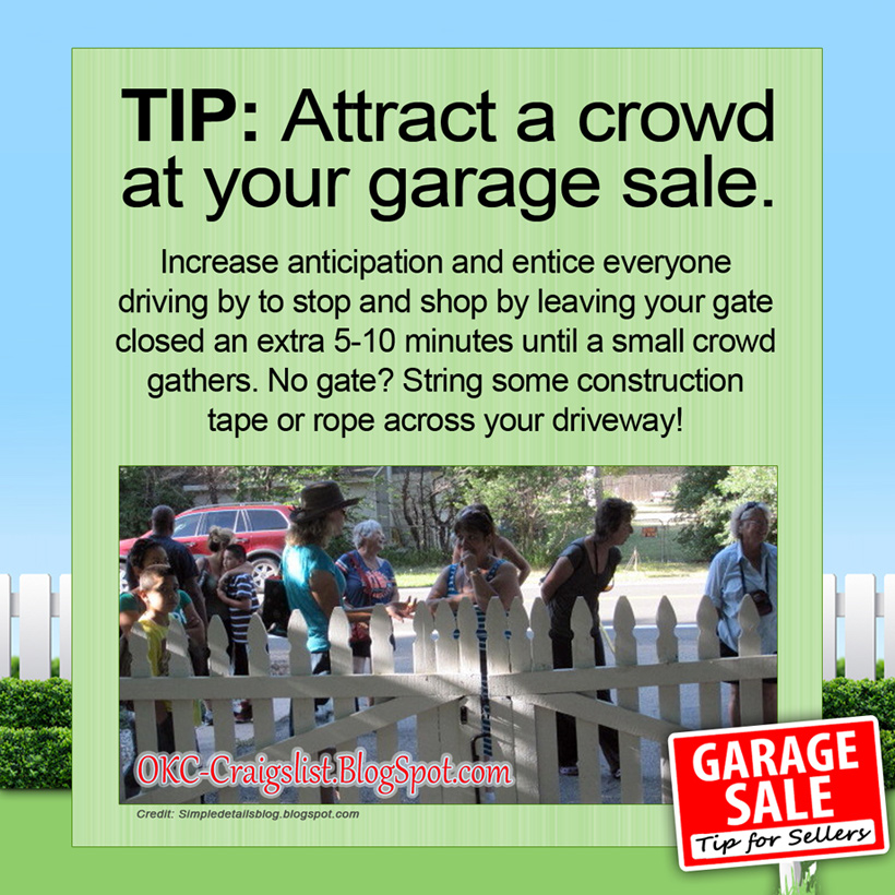 Craigslist Okc Garage Sales >> GARAGE SALE TIPS: *This* is how you draw a crowd | Craigslist Garage Sales - Oklahoma City