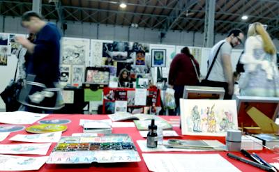 MirRoy zeichnet life Comics und Cartoons auf der Vienna COMIX 2016