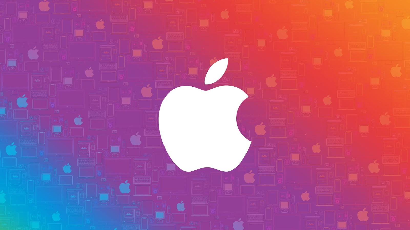 Apple, Colorful, Abstract, HD, 4K, Technology