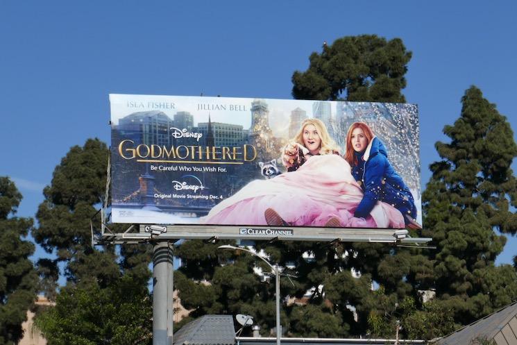 Godmothered Disney+ billboard