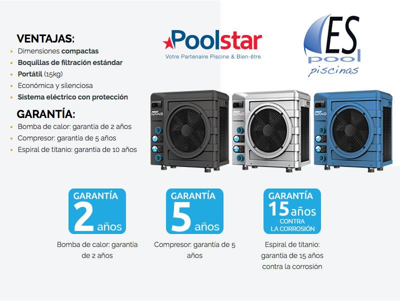 Modelos bomba de calor para piscina Poolex Nano - Poolstar y Espool Piscinas