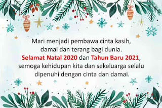 ucapan natal dan tahun baru terbaik