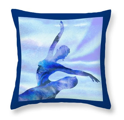 art on merchandise blue pillows decor