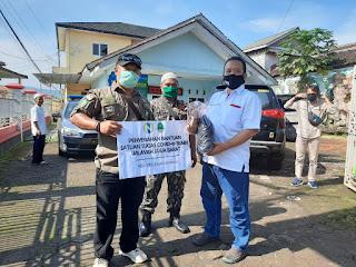 Ormas BBRP Zona III Bersama PTPN Nusantara 8 Sukamaju Bagikan Ratusan Masker