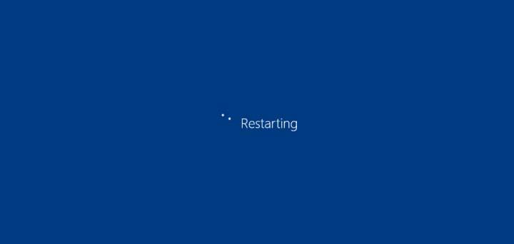 PC sedang melakukan restart...