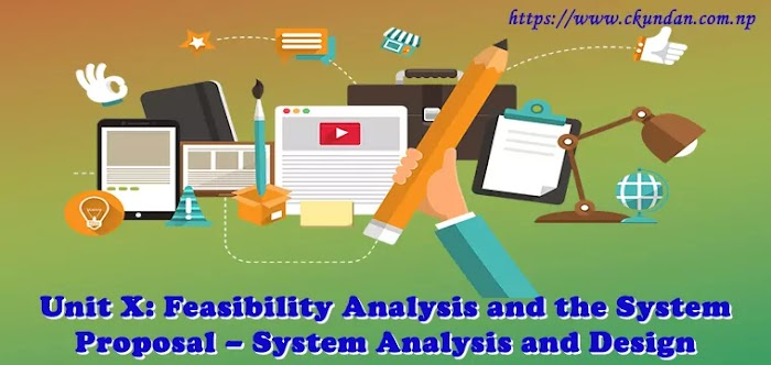 Unit X: Feasibility Analysis and the System Proposal – System Analysis and Design