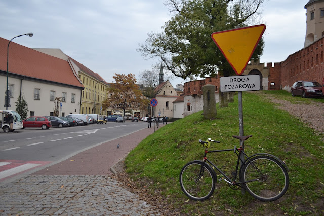 Bicycle outside Wawel Castle Krakow