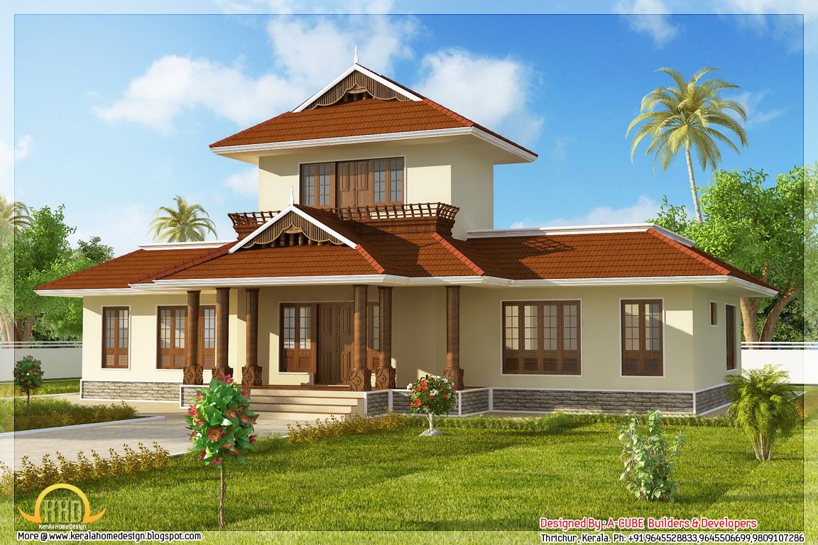 Awesome 3 bhk kerala home elevation 1947 sq ft kerala for Kerala style house elevation