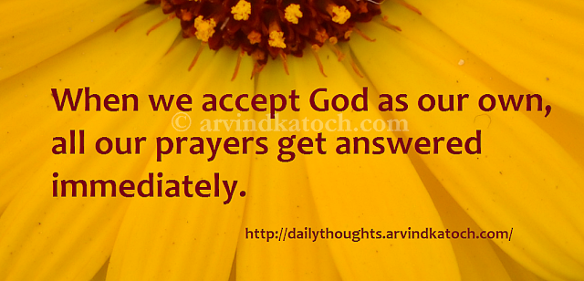 God, Accept, prayers, thought, quote