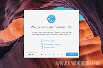 Tampilan Welcome to Elementary OS Terbaru