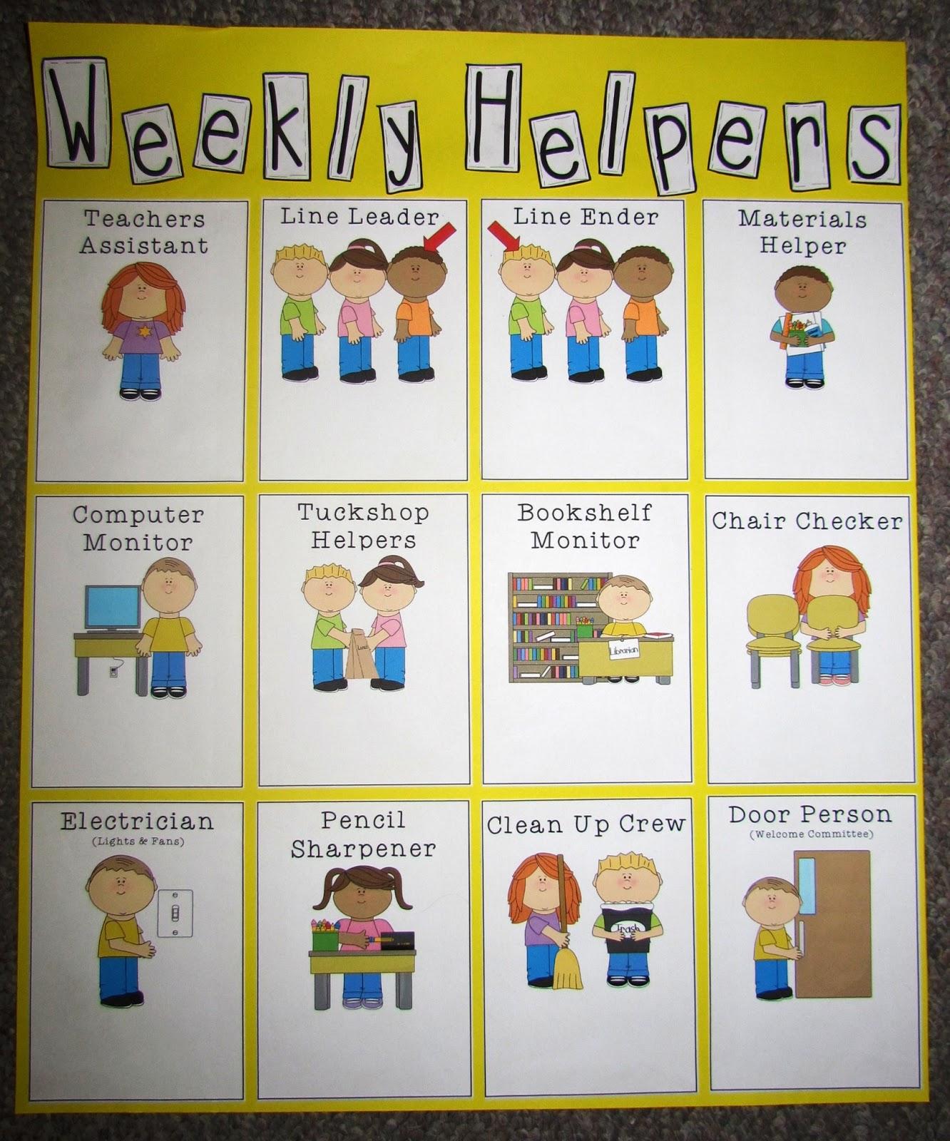 Miss Mac Classroom Jobs Chart