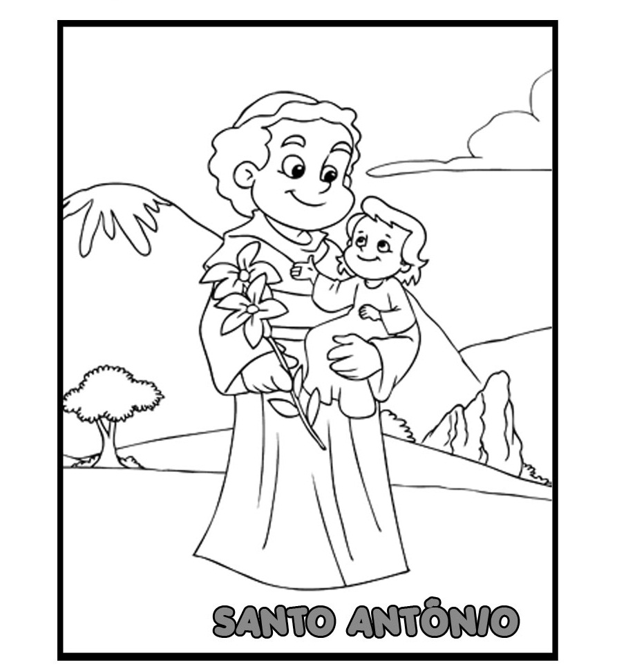 Atomic Neverland Santo Antonio Para Colorir Dia De Santo